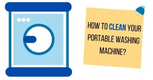how to clean portable washing machine